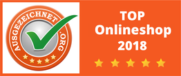 Top Onlineshop 2018 Siegel